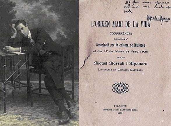 #17. ¿Qué ocurrió en 1926 en Palma cuando Miquel Massutí Alzamora habló sobre el origen marino de la vida?