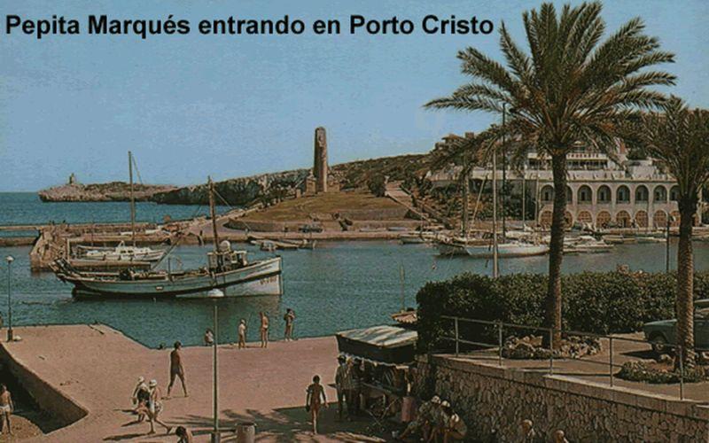 Pepita Marques entrando en Porto Cristo jpg