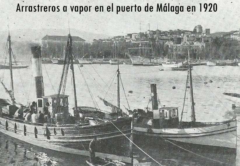 #64. Una pareja de pesca de bou a vapor en Mallorca en 1920 (Las barques del bou de las Islas Baleares 5)