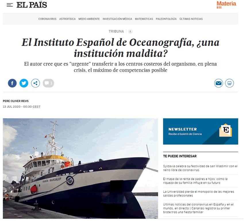 El Instituto Español de Oceanografía, ¿una institución maldita?
